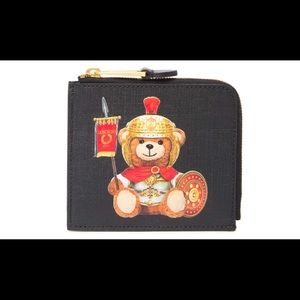 NEW ❤️ MOSCHINO Eco Leather Teddy Bear Pouch